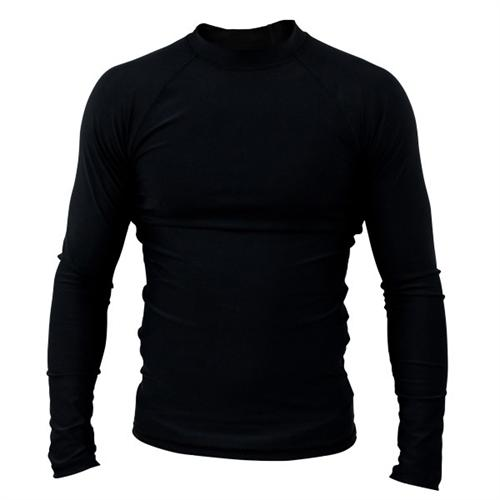 Clinch Gear Clinch Gear Basic Black Rashguard - Long Sleeve